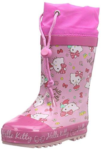 Hello Kitty Girls Kids Rainboots Boots, Stivaletti in gomma a gamba media, imbottitura pesante Ragazza, Multicolore (Mehrfarbig (185 FUXIA/PINK/FUXIA)), 30