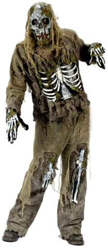 Funworld Young Men'S Teen Skeleton Zombie, Greenish Yellow, One Size Costume front-890886