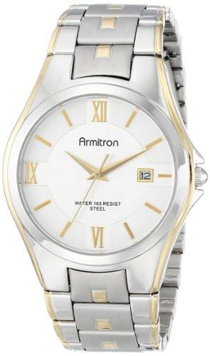 armitron-hommes-20-4413svtt-deux-tons-bracelet-et-montre-habillee-cadran-argent