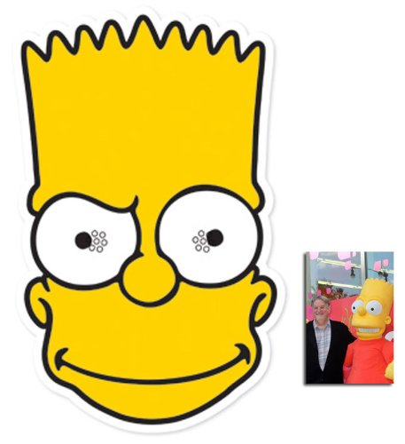 Shirt Face Mask Mask Pack Bart Simpson Face