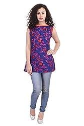 Rajpari Women's Cotton Sleeve Less Kurta