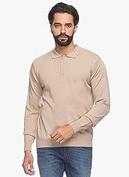 Raymond Men's Woolen Sweater (8907252514984_RMWX00369-H5_42_Khaki)