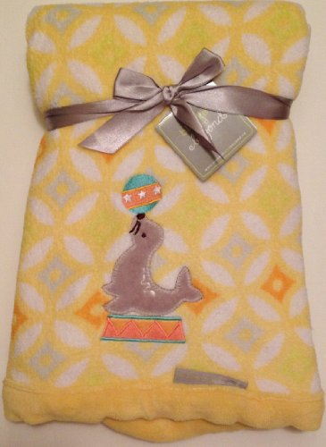 Plush Yellow Blanket - Circus Seal - 1