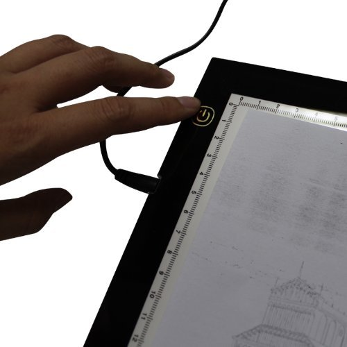 """Huion 17.7"""" (Diagonal Length) Ultra Bright LED Animation Drawing Tracing Stencil Board Tattoo Pad Light Pad Panel A4 with Kenting Cleaning Cloth"""