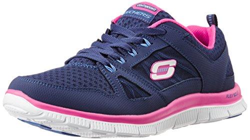skechers-flex-appeal-adaptable-sneakers-basses-femme-bleu-marine-rose-37-eu-4-uk