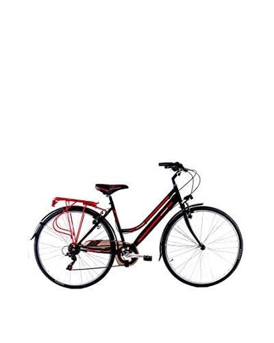 Schiano Cicli Bicicleta 28 Trekking 3.0 06V. Negro / Rojo