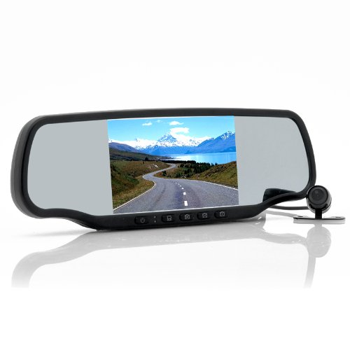 Car Rear View Mirror With Dashcam And Wireless Parking Camera Carmax - 5 Inch Screen, Speed Radar Detector, Gps, Bluetooth