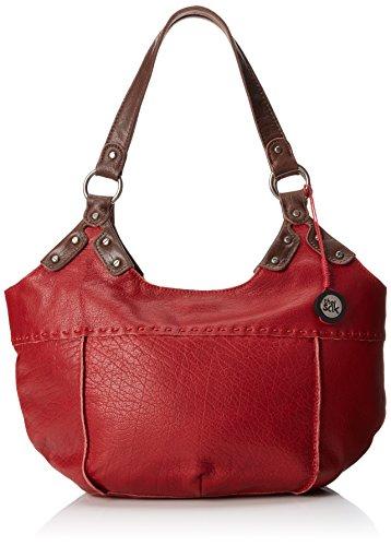 The SAK Indio Satchel Top Handle Bag, Cherry, One Size