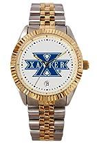 Xavier University Musketeers Mens Executive Stainless Steel Watch