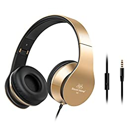 Sound Intone Universal Noise Isolating Headphones with Microphone - Golden