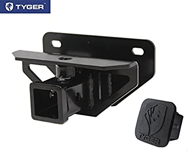 TYGER Class 3 Hitch & Cover Kit Fits 2003-2014 Dodge Ram 1500/2003-2013 Ram 2500/3500 OE Style 2 inch Rear Receiver Hitch Tow Towing Trailer Hitch Combo Kit (Hitch Cover included.)