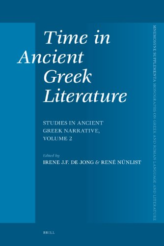Time in Ancient Greek Literature (Mnemosyne, Supplements)