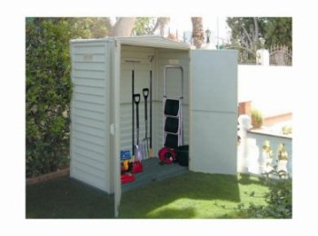Duramax 00911 5x3 yardmate vinyl shed competitive edge for Garden shed 5x3