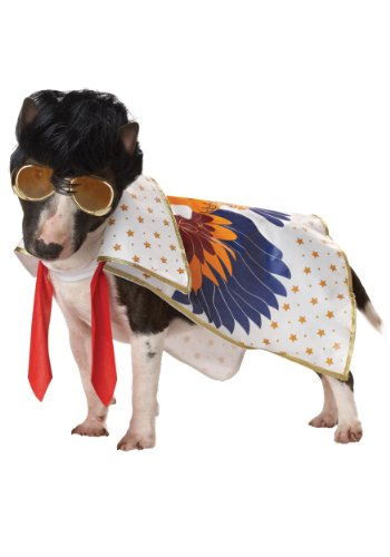 Pup-A-Razzi Rock N Roll King Dog Costume, Small, Multicolor