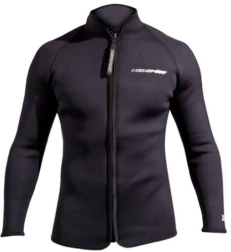 NeoSport 3-mm XSPAN Jacket (Black, Large) - Diving Jacket for Water Sports, Diving & Snorkeling