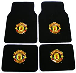 - 	 Manchester United FC ManU Football Soccer Club Front & Rear Carpet Car Truck SUV Floor Mats