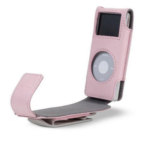 Belkin iPod Klappledertasche für iPod nano pink