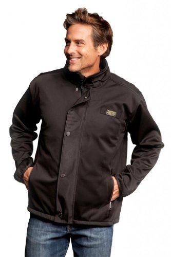 Baviera Men'S Softshell Lightweight Jacket Medium Black