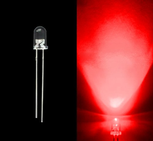 10Pcs Red 5Mm Light Emitting Diodes - Round Head Water Clear Led Diodes