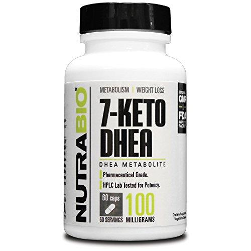 Nutrabio 7-Keto Dhea 100Mg - 60 Vegetable Capsules