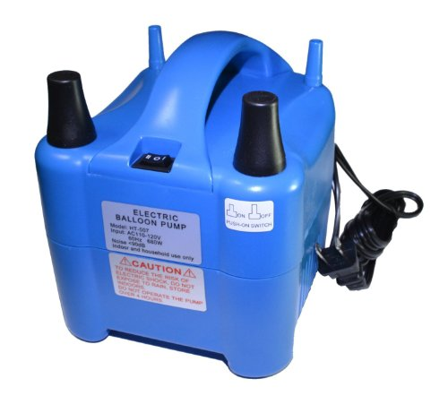 Riorand Super High Power Portable Air Blower Electric Balloon Inflator Pump With Two Nozzle 17000Pa 2.4 Psi 900L/Min Air Volume