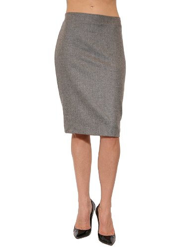 Women's Graham & Spencer Wool Pencil Skirt in Grey