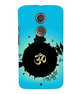 printtech Indian Om Planet Back Case Cover for Motorola Moto X2::Motorola Moto X (2nd Gen)