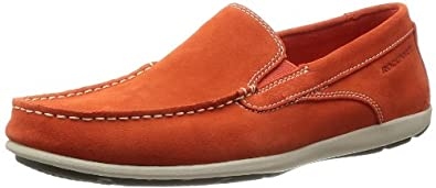 Rockport Men's Cape Noble 2 Loafer Flats Orange Orange (Orange Wsh Sde) 6 (40 EU)