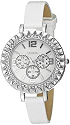 Geneva Womens FMDJT104A Analog Display Japanese Quartz White Watch