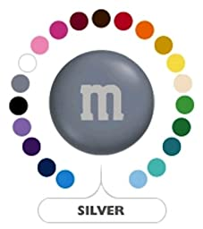 M&M\'s Silver Milk Chocolate Candy 1LB Bag