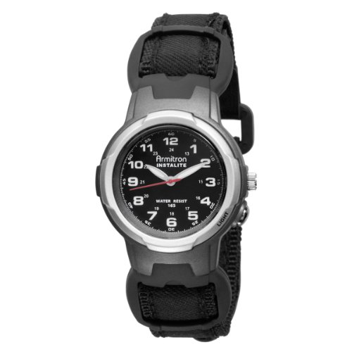 Armitron Women's 25/6369 Easy to Read Instalite Black Sport Watch