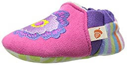 ACORN Toddler Easy-On Moc Slipper (Infant-Toddler-Little Kid-Big Kid),Pink Flower,12-18 Months M US Infant