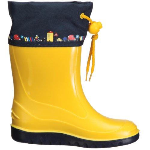 Romika Jerry, Unisex-Kinder Halbschaft Gummistiefel, Gelb (zitrone-blau 805), 25 EU -