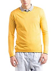 Prym Men's Acrylic Sweater (8907423022638_2011520906_X-Large_Yellow)