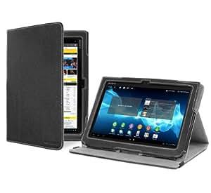 Cover-Up Schutzhülle aus Leder für Sony Xperia Tablet S 23,9cm/9,4Zoll, mit Standfunktion, Schwarz