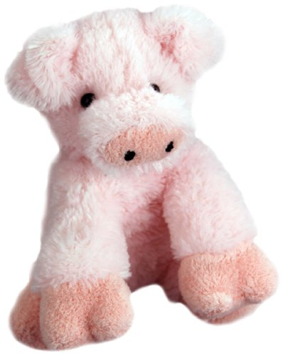 "Purr-Fection Mud puddle Junior Snuggle Ups Pig 8"" Plush"