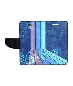 KolorEdge Printed Flip Cover For Lenovo S1 Multicolor - (1478-50KeMLogo12357LenovoS1)
