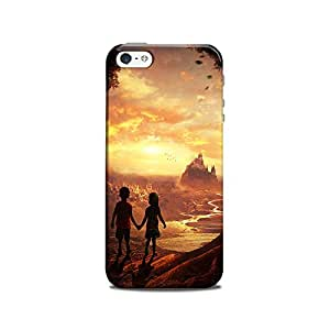 Mikzy Boy And Girl Standing Holding Hands Printed Designer Back Cover Case for Iphone 5/5S