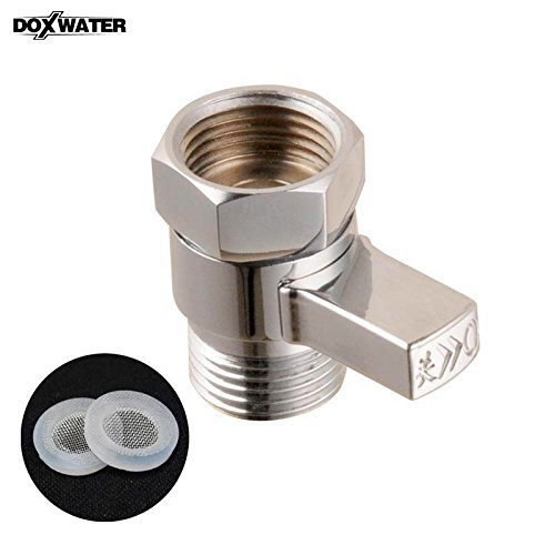doxwater brass shower flow control valve water pressure reducing controller hand held sprayer. Black Bedroom Furniture Sets. Home Design Ideas