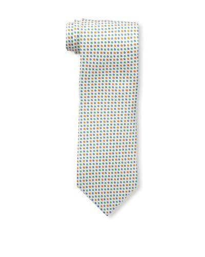 Borrelli Men's Patterned Tie, Silver