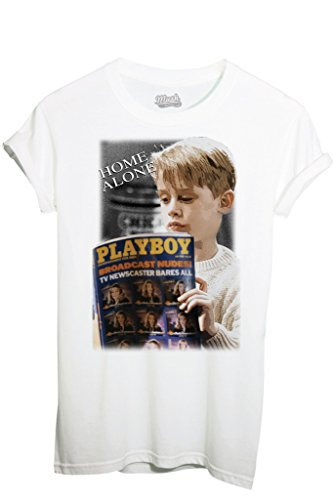 T-Shirt MAMMA, HO PERSO L'AEREO PLAYBOY - FILM by iMage Dress Your Style - Bambino-XL-BIANCA