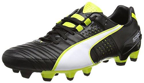Puma Spirit II FG, Calcio scarpe da allenamento uomo, Nero (Schwarz (black-white-sulphur spring 03)), 42