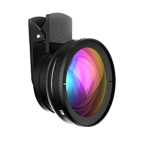 Vtin 2 in 1 Professional 0.45X Wide Angle High Definition Lens, 10X Macro Lens for iPhone SE, 6, 6s, 6s Plus, Samsung and Other Cell Phones