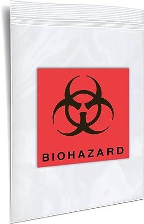 """CZB20305 Biohazard bolsas zip lock, 5 """"de longitud, 3"""" Ancho (Caso"""