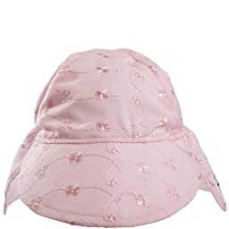 Flap Happy Upf 50+ Flap Hat, Pink Eyelet, Extra Large