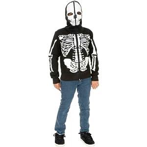 Skeleton Sweatshirt Hoodie Costume - X-Large