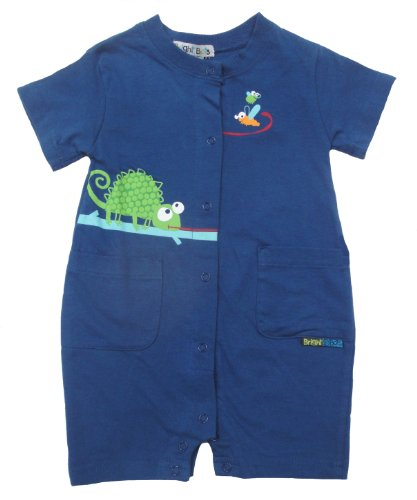 Bright Bots Baby Boy Soft Cotton Jersey Bright Blue Romper size Newborn