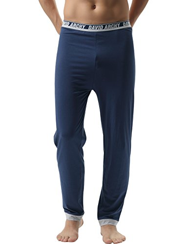 david-archy-mens-2-pack-premium-quality-cotton-solid-knit-pajama-pantsmnavy