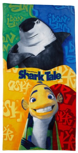 Shark Tale Don Lino And Oscar Collage Beach Towel
