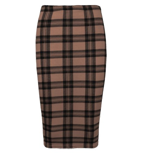 NEW WOMEN LADIES MIDI SKIRT STRETCH ELASTICATED WAIST PRINTED